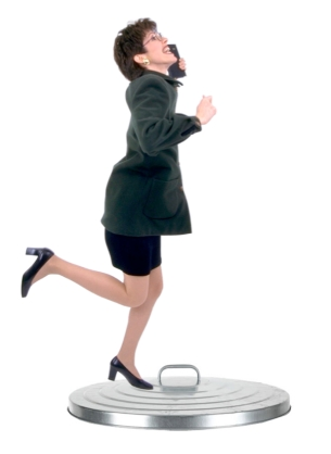 Woman jumping Over A Bin Lid
